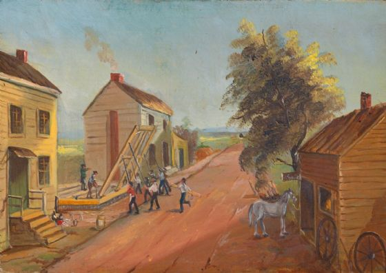Chappel, William P: House Raising. Fine Art Print/Poster (5343)